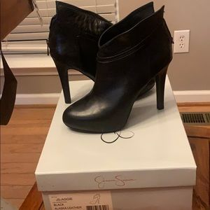 Black ankle booties